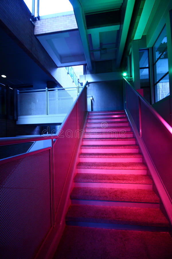 Download Stairs With Colorful Lighting Stock Photo - Image: 16410336