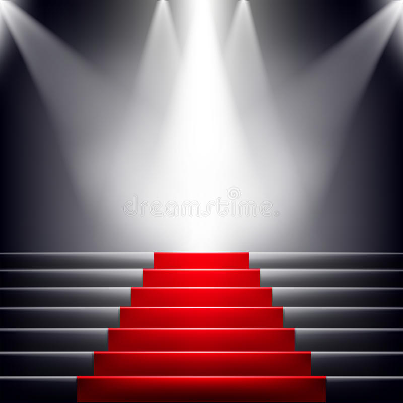 Free Stairs Covered With Red Carpet. Stock Image - 35173171