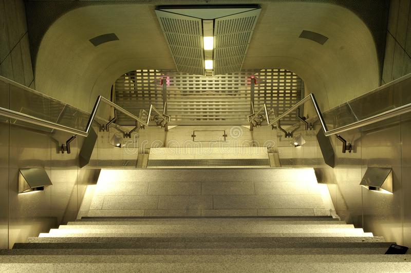 Stairs down royalty free stock photography