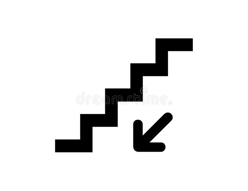 Stairs down stock illustration