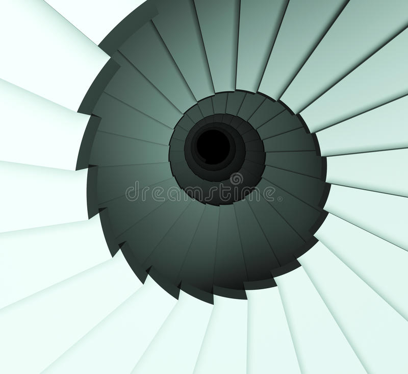 Stairs Down Shows Ascending Decrease And Ascend. Stairs Down Meaning Descend Falling And Decline vector illustration