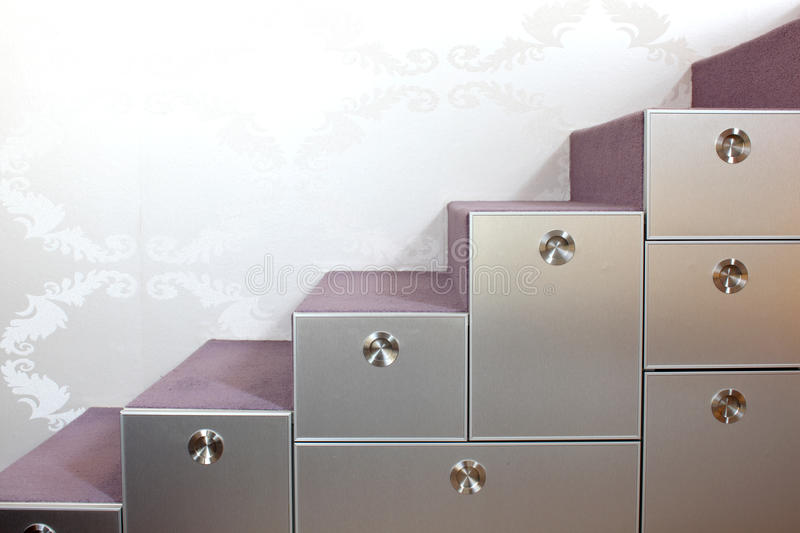 Download Stairs With And Drawers In The Modern Home Stock Photo - Image of carpet, designer: 18596552