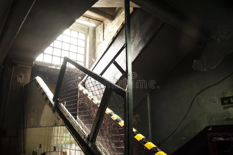 Factory. Stairs in a factory in Buenos aires royalty free stock photos