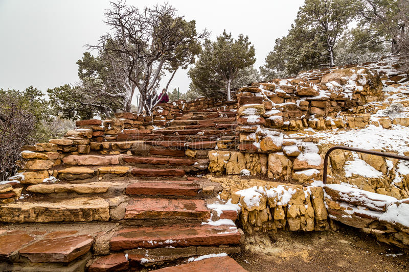Stairs in Grand Canyons National Park stock photos