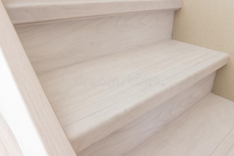stairs of a gray wooden staircase royalty free stock photo
