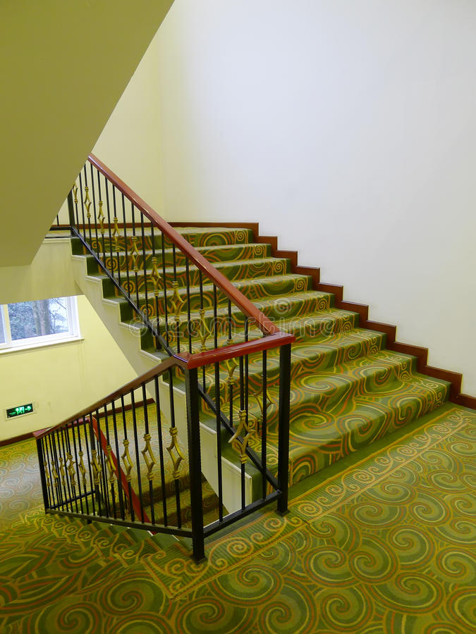 Stairs in the hotel. Nobody royalty free stock photos