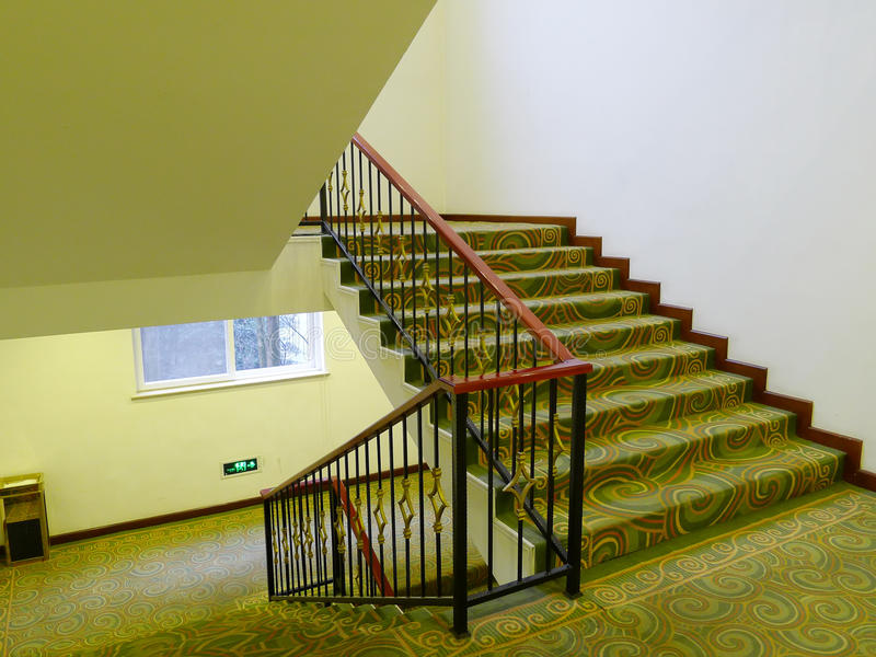 Stairs in the hotel. Nobody royalty free stock image