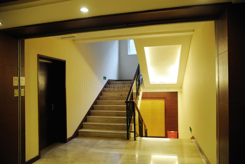 Stairs in the hotel. Nobody stock photography