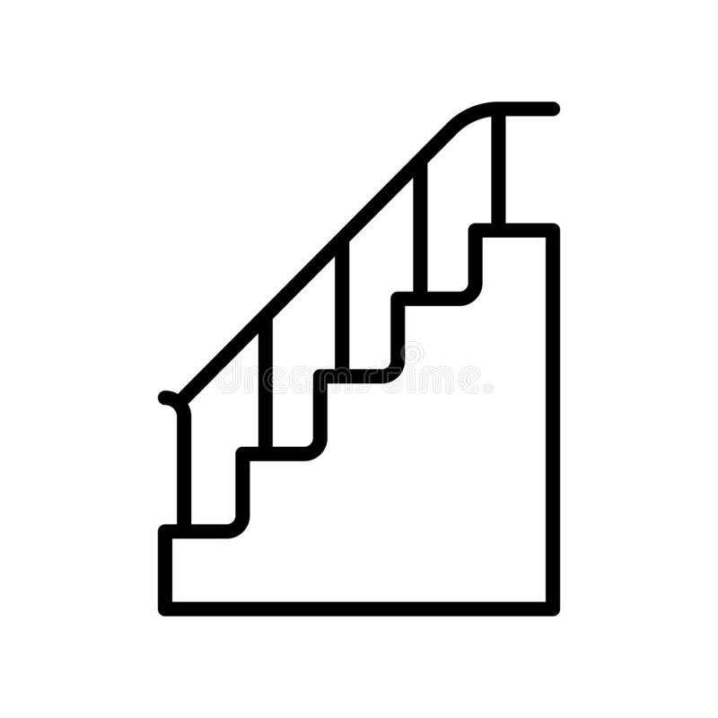 Stairs icon vector isolated on white background, Stairs sign , line and outline elements in linear style vector illustration