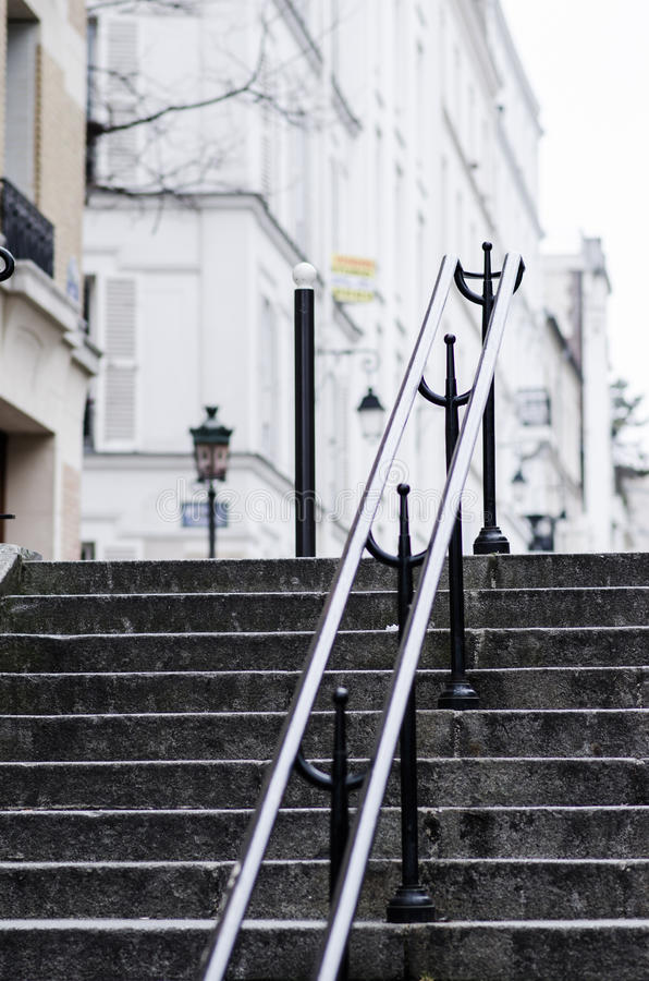 Free Stairs In Parisian Montmartre Royalty Free Stock Photos - 32081578