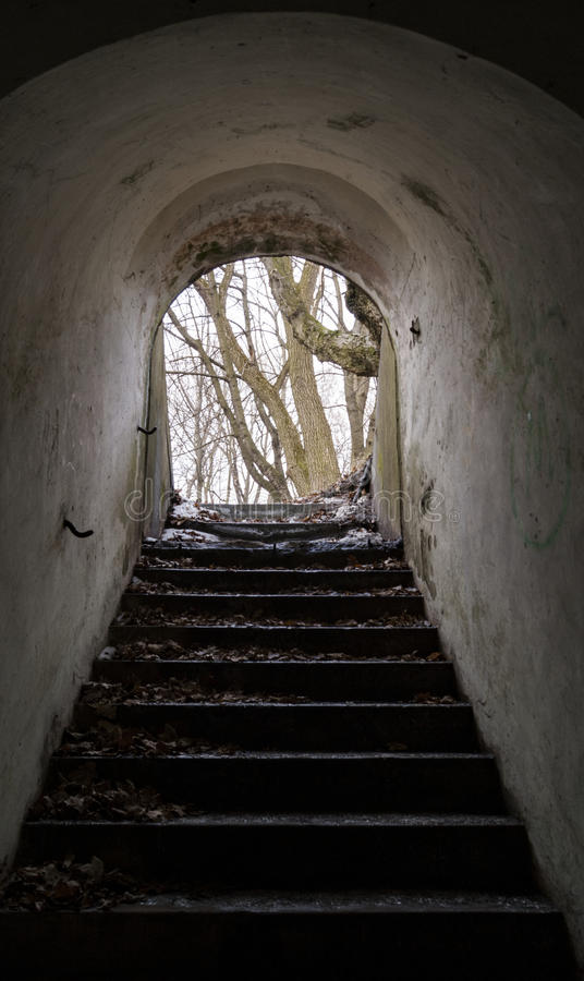 Free Stairs In Siedliska Fortifications Salis Soglio. Stock Photography - 86582782