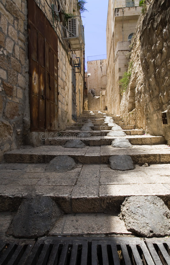 Free Stairs In The Old City Of Jerusalem Royalty Free Stock Photography - 811637