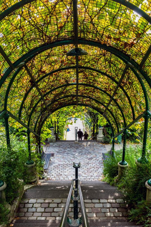 Free Stairs In The Parc De Belleville In Paris, France Royalty Free Stock Photos - 161310368