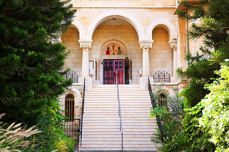 Stairs in Latrun Trappist Monastery in Israel. Middle East, Asia royalty free stock photography