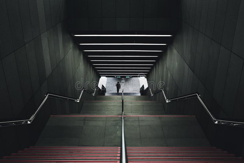 Stairs Leading To Underground Trains Free Public Domain Cc0 Image