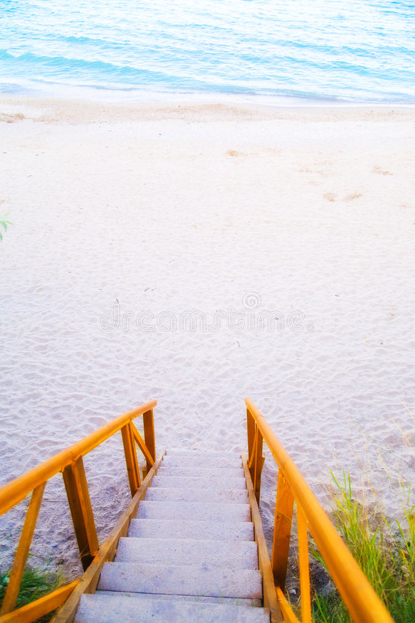 Download Stairs Leading To Water Royalty Free Stock Photography - Image: 8529337