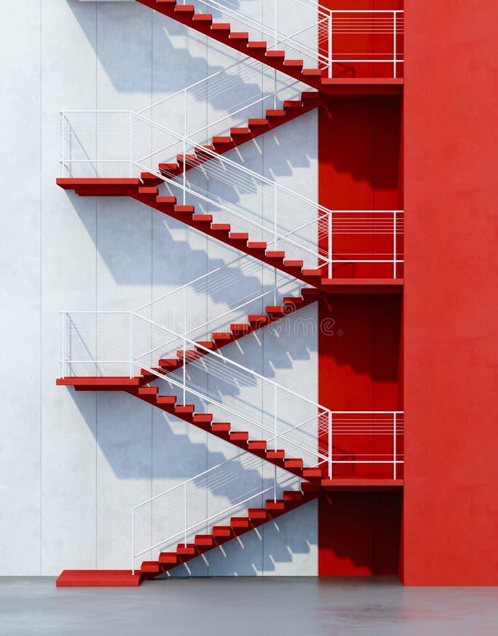 Stairs leading upward. 3d rendering stock illustration