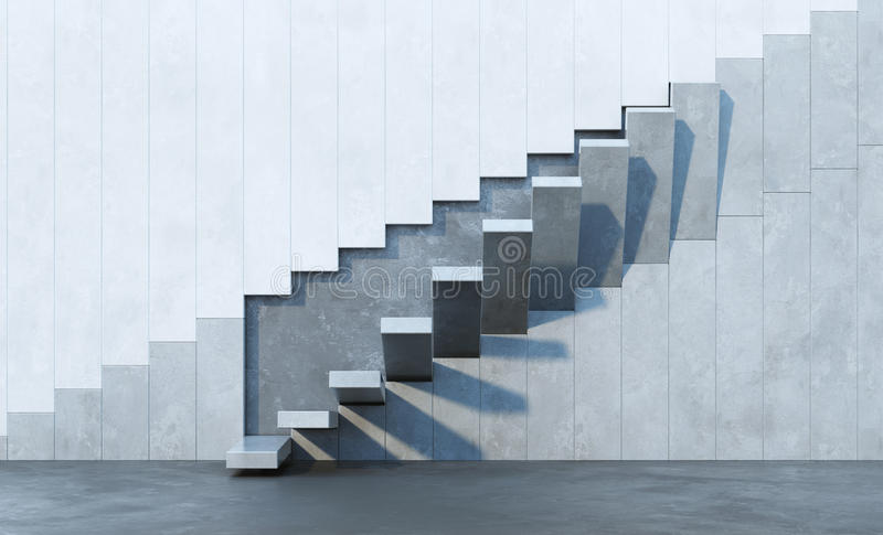 Stairs leading upward royalty free illustration