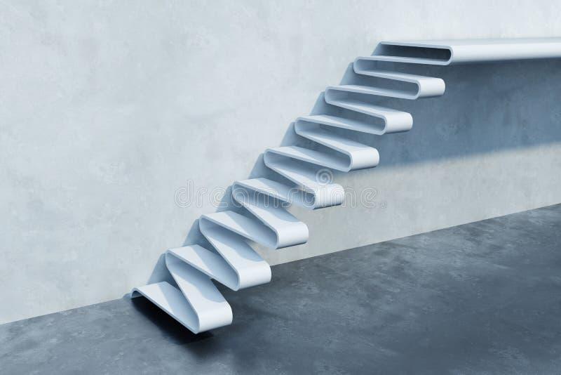 Stairs leading upward, 3d render stock illustration