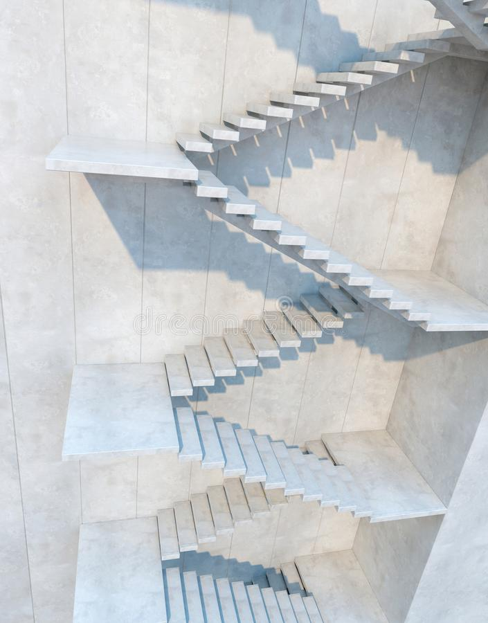 Stairs leading upward royalty free stock photos