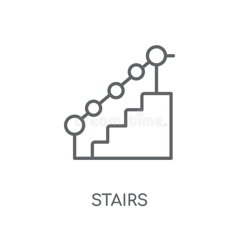 Stairs linear icon. Modern outline Stairs logo concept on white vector illustration