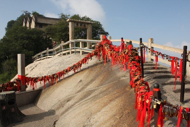 Stairs with locks at Hua Shan Mountain, China