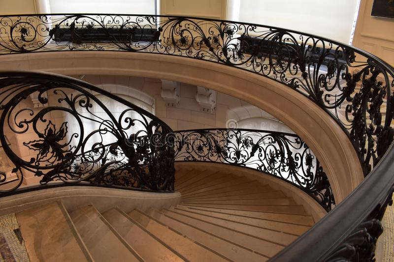 Stairs that are a luxury for the senses. Majestic staircase in the center of Paris. Upload it, is a luxury for the senses stock photos