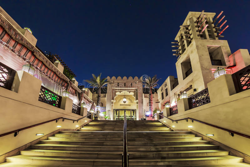 Stairs of Madinat Jumeirah stock photo