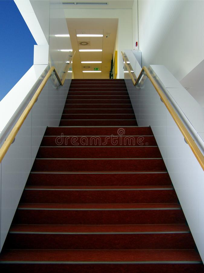 Stairs In Modern Building Royalty Free Stock Photography