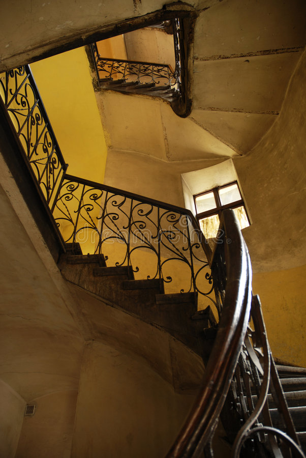 Download Stairs in old polish house stock image. Image of entrance - 3742039