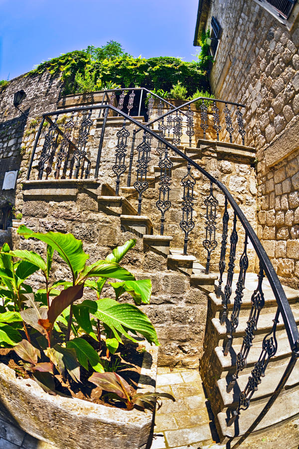Stairs in the old town royalty free stock photography