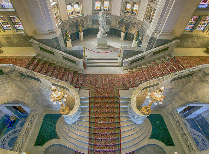 Stairs of the Peace Palace stock images
