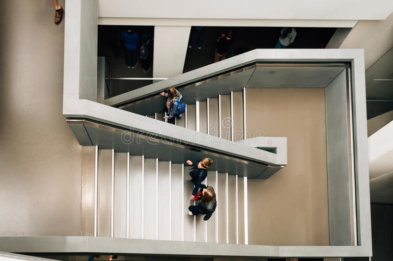 Stairs with people stock photography