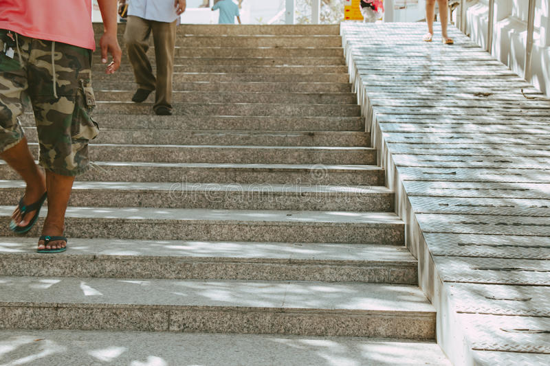 Download Stairs And Ramp For Both People And Wheelchair. Stock Image    Image Of Fashion