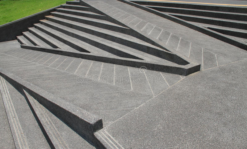 Stairs and ramps made from cements. Stairs and ramps made from cements for disabled stock image