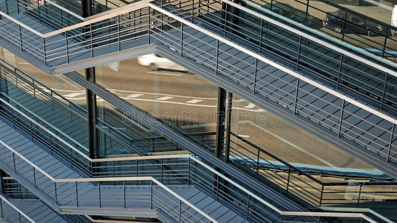 Stairs at Reina Sofia royalty free stock photography