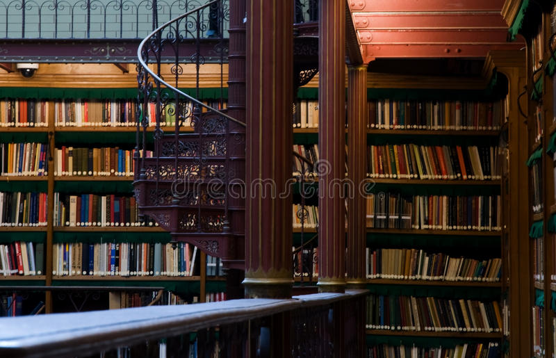 Stairs in research library of Rijksmuseum royalty free stock photography