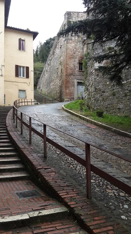 Stairs and road in Perugia, Italy, Perugia stock images