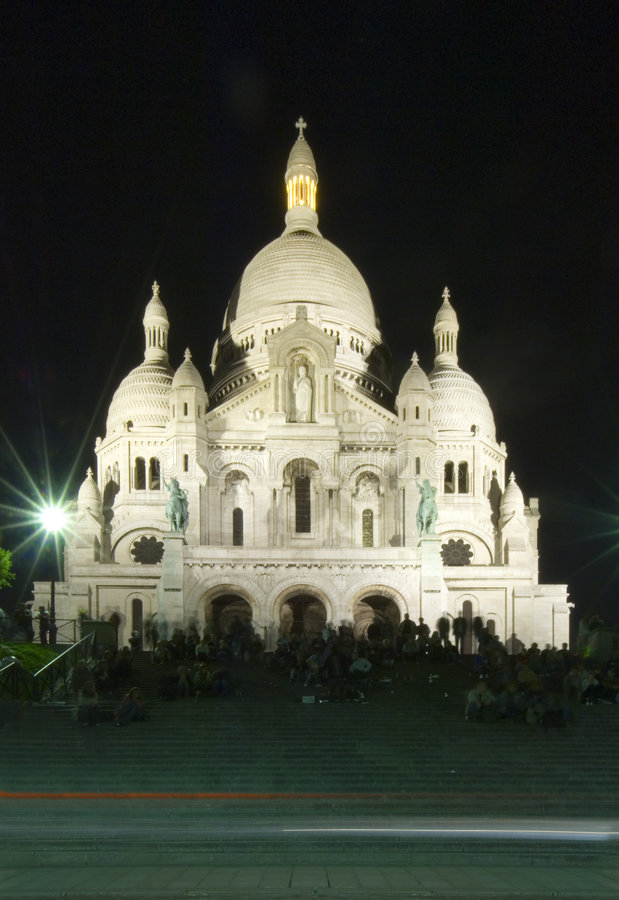 The stairs of the Sacre Coeur royalty free stock photo
