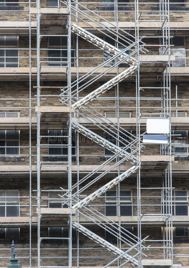 Steel Scaffolding Ladder : Stairs on scaffolding stock image of ladder levels