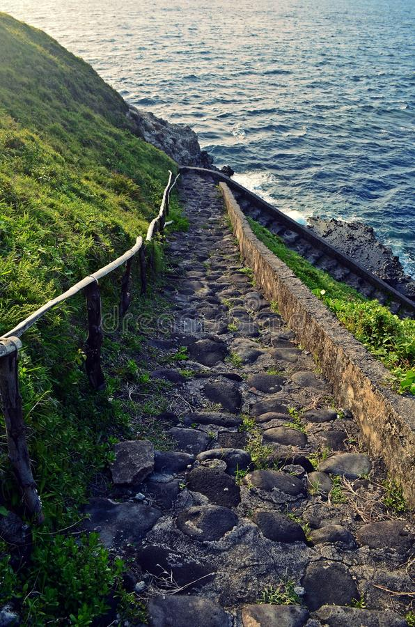 Stairs by the Sea stock photography