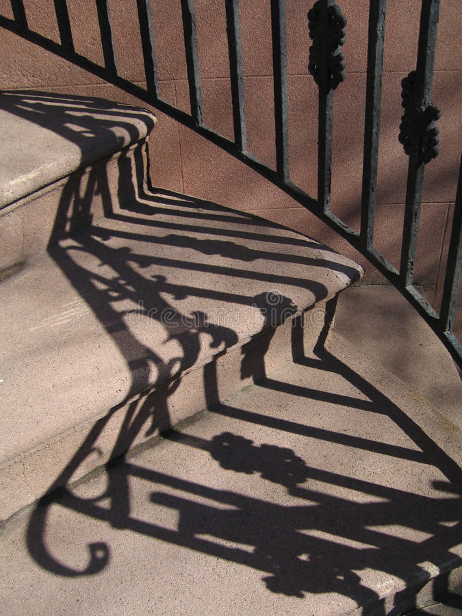 Stairs and shadows royalty free stock photos