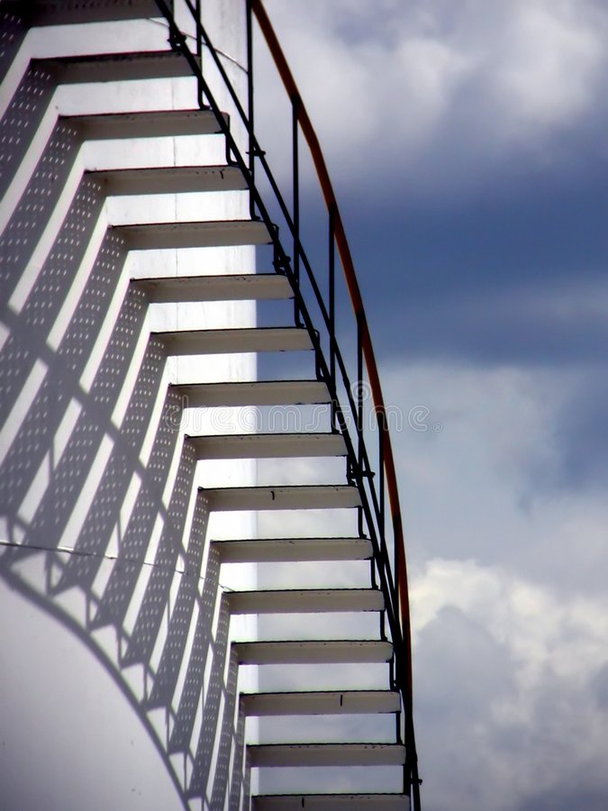 Download Stairs in the Sky stock photo. Image of steps, industrial - 4498