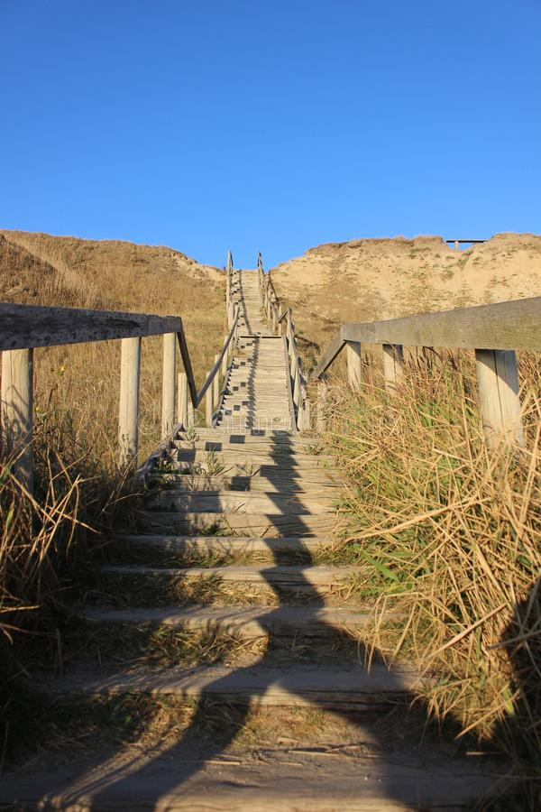 Stairs Thorsminde Denmark. Photo from stair in the dunes in thorsminde. Denmark 2018 royalty free stock photo