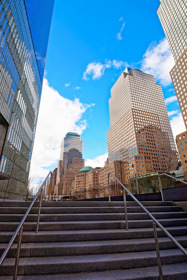 Stairs in Three World Financial Center in Financial District USA. Stairs in Three World Financial Center in Financial District. It is also known as American stock photos