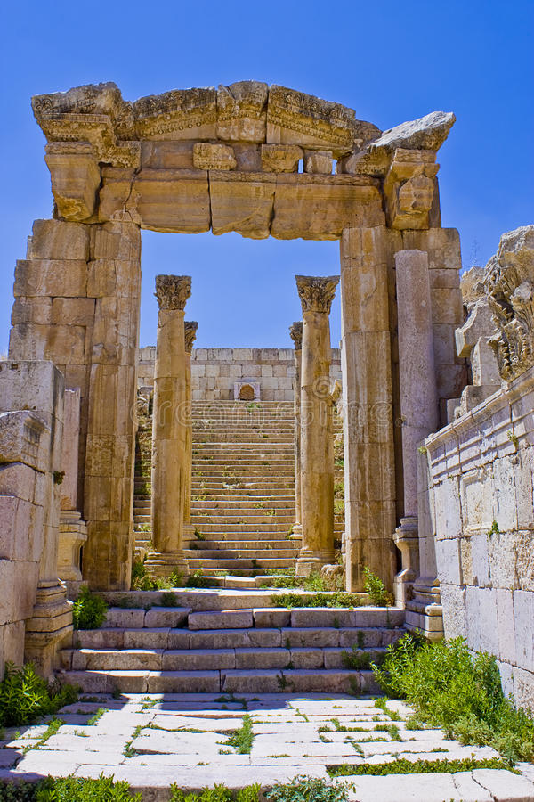 Download Stairs to artemus temple stock image. Image of roman - 13875167