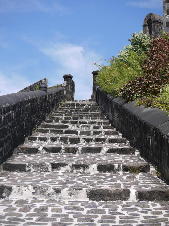 Stairs to Battle Building stock image