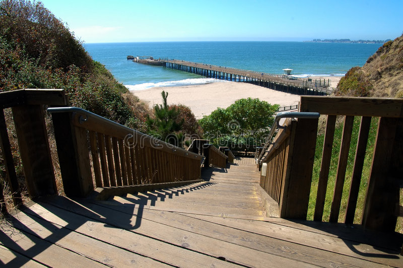 Download Stairs To The Beach stock image. Image of water, landscape - 258075