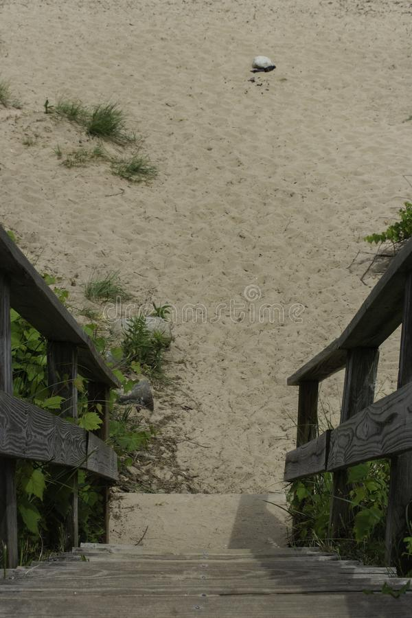 Stairs to the Beach royalty free stock images