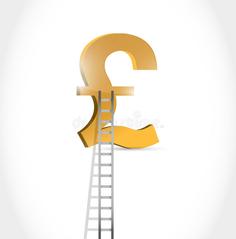 Stairs To British Pound Currency Symbol Stock Illustration